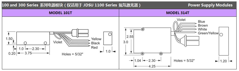 1100 series 氦氖激光器